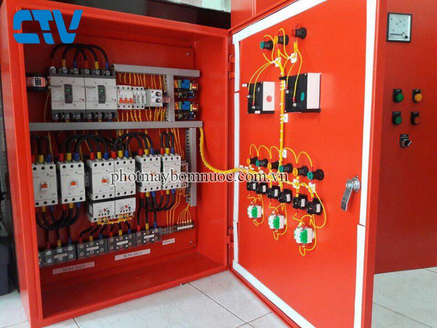 Lắp đặt tủ điện điều khiển và bảo vệ máy bơm PCCC