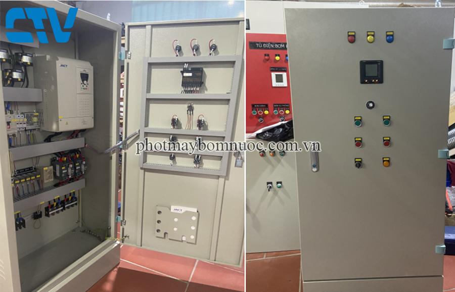 Tủ điện điều khiển và bảo vệ máy bơm tăng áp 37Kw